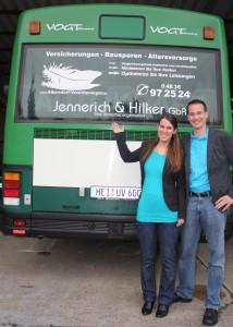 Foto mit Bus